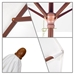 wooden construction traditional umbrella