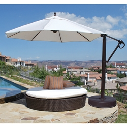 Galtech Aluminum 11 Foot Round Cantilever Umbrella with Easy Lift - 887