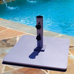 Galtech 24 Inch Steel Square Umbrella Base with 85 LBS. Weight - 085SQ