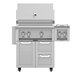 "Outdoor 30"" Grill with Cart and Double Side Burner - G_BR30-GCR30-AGB122"