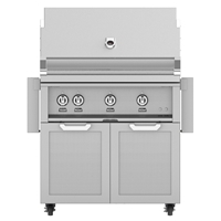 "Outdoor 36"" Grill with Double Door Cart"