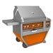 "Deluxe 36"" Grill with Work Top and Double Side Burner - G_BR36CX2"