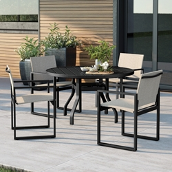 Homecrest Allure Modern Sling Patio Dining Set - HC-ALLURE-SET3