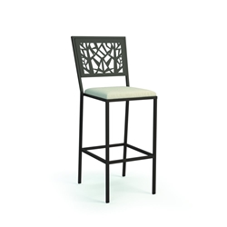 Homecrest Echo Armless Bar Stool with Seat Cushion - 9448P