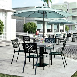 Homecrest Echo Cafe Patio Dining Set with Slate Table - HC-ECHO-SET5