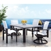 Homecrest Elements Sling Outdoor Dining Set with Timber Table - HC-ELEMENTS-SET5