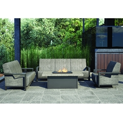 Homecrest Elements Air Patio Set with Shadow Rock Fire Table - HC-ELEMENTSAIR-SET3