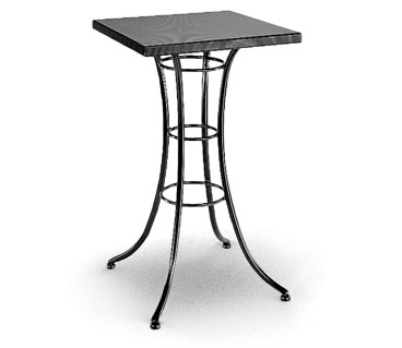 Homecrest Embossed 24 Inch Square Bar Table w/ Steel Base - 09203
