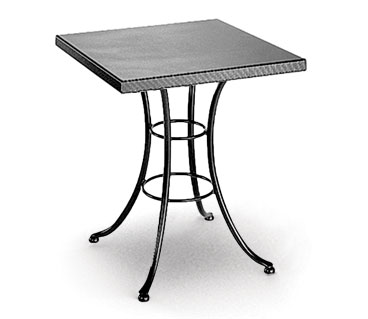 Homecrest Embossed 30 Inch Square Cafe Table w/ Steel Base - 19211