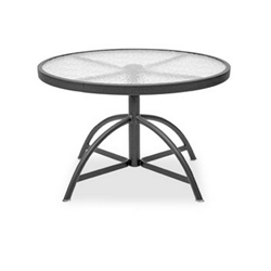 Homecrest Glass 30 inch Round Adjustable Table - 17304
