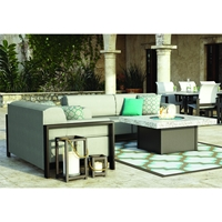 Homecrest Grace Cushion Lounge Fire Pit Set - HC-GRACE-SET3