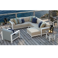 Homecrest Grace Sectional with Chat Chair - HC-GRACE-SET6