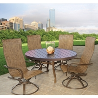Homecrest Holly Hill 5 Piece Patio Dining Set - HOMECREST-HOLLYHILL-SET2