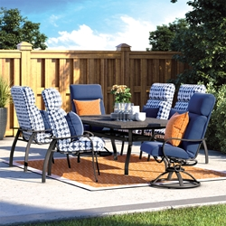 Homecrest Holly Hill Cushion Patio Dining Set for 6 with Shadow Rock Table - HC-HOLLYHILL-SET8