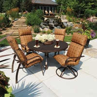 Homecrest Holly Hill Cushion 5 Piece Patio Dining Set - HOMECREST-HOLLYHILL-SET4