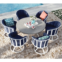 Homecrest Liberty Barrel Chairs with Stonegate Dining Table - HC-LIBERTY-SET2