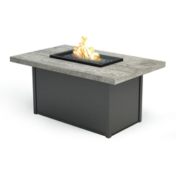 "Homecrest Quick Ship Timber Chat Height Fire Table - 32"" x 52"" - Q893252XCTM"