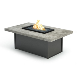 "Homecrest Quick Ship Timber Coffee Height Fire Table - 32"" x 52"" - Q893252XLTM"