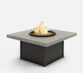 "Homecrest Shadow Rock 42"" Square Coffee Fire Pit - 8942SLSH"