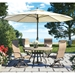 High back weighted outdoor dining chair