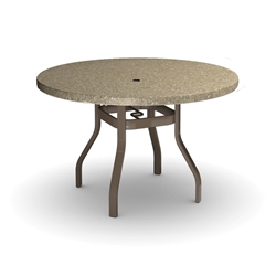 Homecrest Stonegate 42 inch round Balcony Table - 3742RBSG-NU