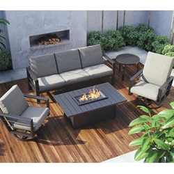 Homecrest Sutton Patio Set with Breeze Fire Pit Table - HC-SUTTON-SET4