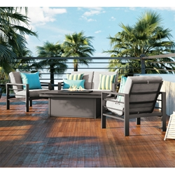 Homecrest Sutton Patio Set with Mode Fire Pit Table - HC-SUTTON-SET5