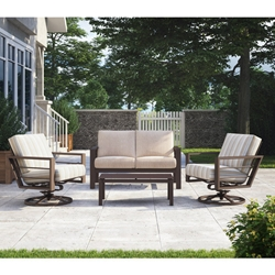 Homecrest Sutton Loveseat and Swivel Rocker Lounge Chair Patio Set - HC-SUTTON-SET6