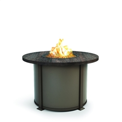 "Homecrest Timber 42"" Round Dining Fire Table - 4642DTM"