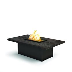 "Homecrest Timber 36"" x 60"" Rectangular Coffee Fire Pit - 893660XLTM"