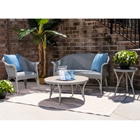 Lloyd Flanders All Seasons Wicker Settee and Lounge Chair Patio Set - LF-ALLSEASONS-SET6