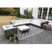 Lloyd Flanders Catalina Sectional and Lounge Chair Set - LF-CATALINA-SET9