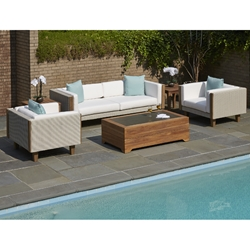Lloyd Flanders Catalina Sofa and Lounge Chair Wicker Patio Set - LF-CATALINA-SET1