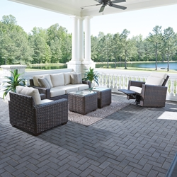 Lloyd Flanders Contempo Patio Set with Recliner - LF-CONTEMPO-SET12