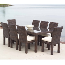 Lloyd Flanders Contempo 9 Piece Patio Dining Set - LF-CONTEMPO-SET3
