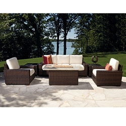 Lloyd Flanders Contempo Fire Pit Lounge Set - LF-CONTEMPO-SET9