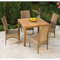 Lloyd Flanders Lloyd Flanders 5 Piece High Back Dining Set - LF-DINING-SET6