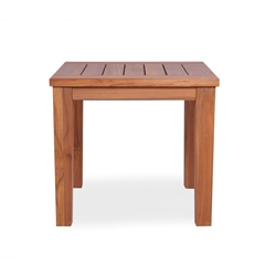 Lloyd Flanders 24 inch Square Teak Tapered Leg End Table - 286443