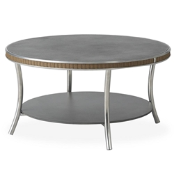 "Lloyd Flanders Essence 33"" Round Cocktail Table with Charcoal Glass - 196344"