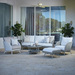 Lloyd Flanders Essence Outdoor Wicker Patio Set with Sofa and Lounge Chairs - LF-ESSENCE-SET1