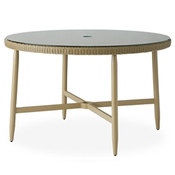 "Lloyd Flanders Fairview 48"" Round Umbrella Dining Table - 182048"