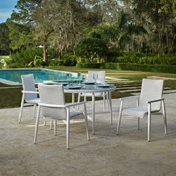 Lloyd Flanders Fairview Outdoor Wicker Round Dining Table - LF-FAIRVIEW-SET2