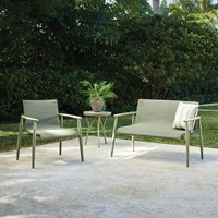 Lloyd Flanders Fairview Loveseat and Lounge Chair Wicker Outdoor Set - LF-FAIRVIEW-SET4
