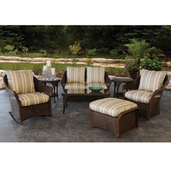 Lloyd Flanders Freeport Patio Loveseat Set with Ottoman - LF-FREEPORT-SET5