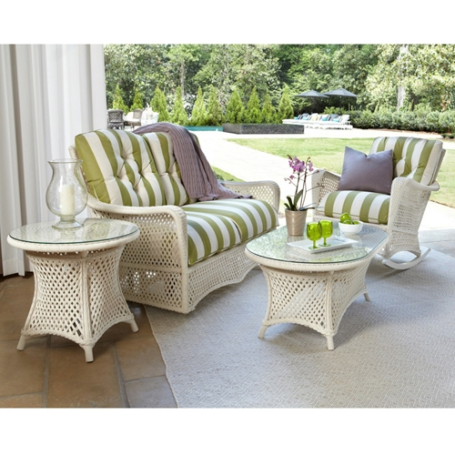 Lloyd Flanders Grand Traverse Loveseat Glider and Rocking Chair Patio Set - LF-GRANDTRAVERSE-SET17