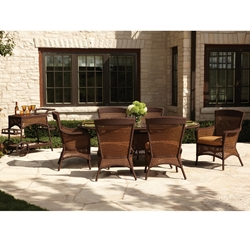 Lloyd Flanders Grand Traverse 7 Piece Dining Set with Optional Serving Cart - LF-GRANDTRAVERSE-SET7