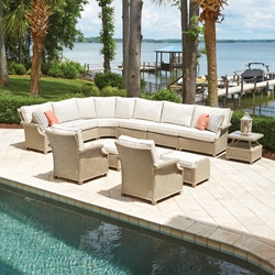 Lloyd Flanders Hamptons Outdoor Wicker Sectional and Lounge Chair Set - LF-HAMPTONS-SET20