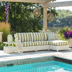 Lloyd Flanders Hamptons Wicker Sectional with Chaise - LF-HAMPTONS-SET10