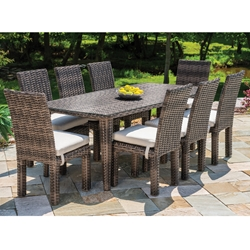 Lloyd Flanders Largo Wicker Dining Set for 8 - LF-LARGO-SET6