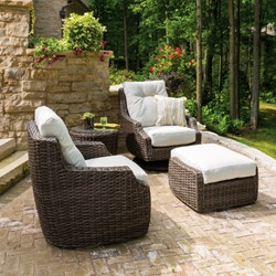 Lloyd Flanders Largo 4 Piece Wicker Lounge Chair Set - LF-LARGO-SET5